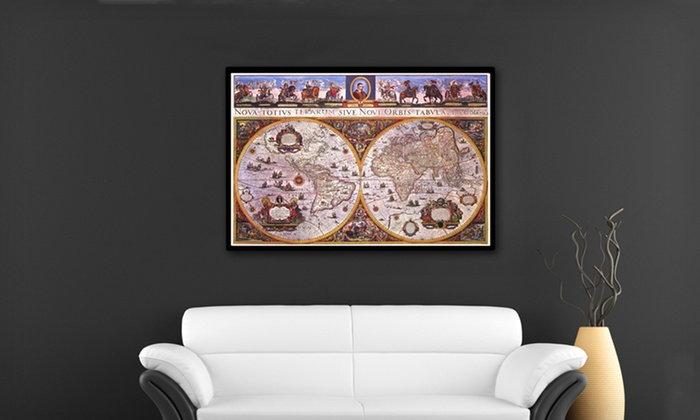 Canvas Giclee Wall Maps: Unframed or Framed Canvas Giclee Wall Maps (Up to 73% Off). Four Styles Available. Free Shipping and Free Returns.