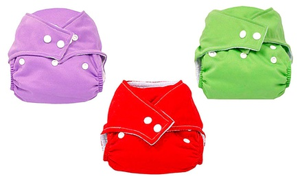 3-Pack of Reusable Cloth Diapers