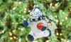 NFL Blown-Glass Snowman Player Ornament: NFL Blown-Glass Snowman Player Ornament