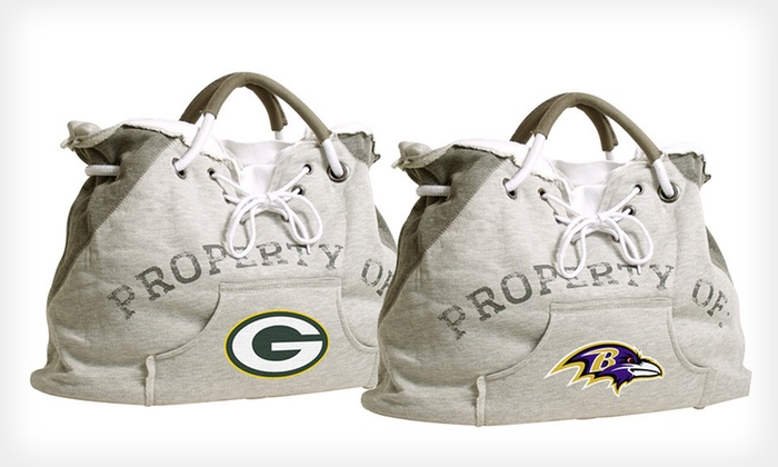 "NFL ""Property Of"" Team Hoodie Tote: $21.99 for NFL ""Property Of"" Team Hoodie Tote ($44.99 List Price). Eight Options Available. Free Shipping."