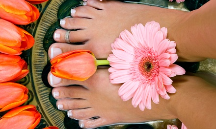 Spa Pedicure with Optional Scrub, Clay Mask, and Hot-Towel Treatment at Red Hots Salon (Up to 56% Off)