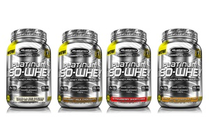 26 Servings of Muscletech Platinum 100% ISO Whey Protein Supplements