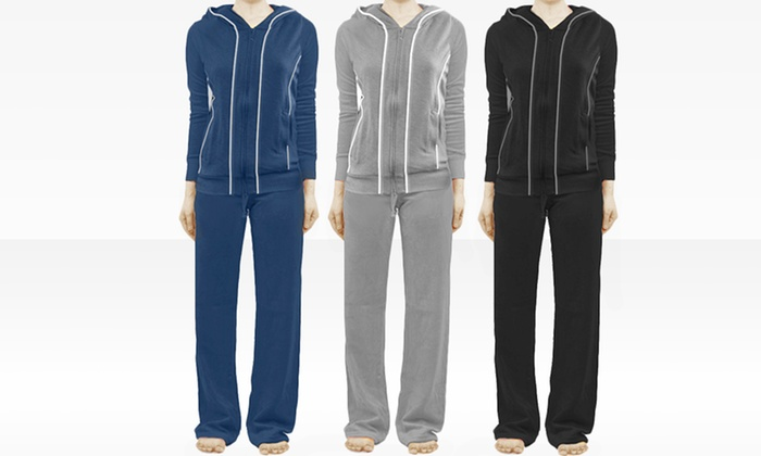 Women's French Terry Track Suits: Women's French Terry Track Suit. Multiple Colors Available. Free Returns.