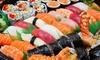 Menu barca sushi, dolce e vino