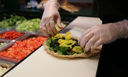 $20 for Two Groupons, Each Good for $15 Worth of Pitas and Drinks at Pita Pit ($30 Total Value)