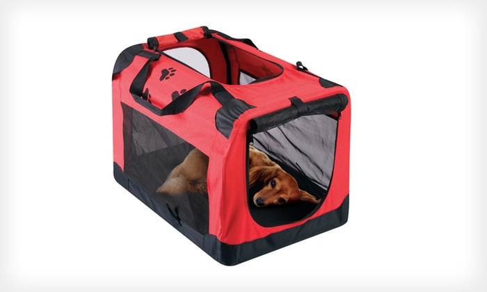Red Carrier for Dogs or Cats: $29 for a Red Carrier for Dogs or Cats ($89.99 List Price). Free Shipping and Returns.