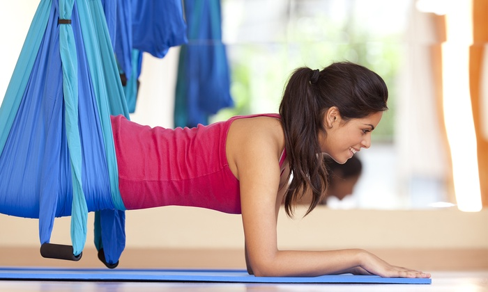 The Action Room - Howell: One, Three, or Five Aerial-Yoga Classes at The Action Room ( 61%Off)