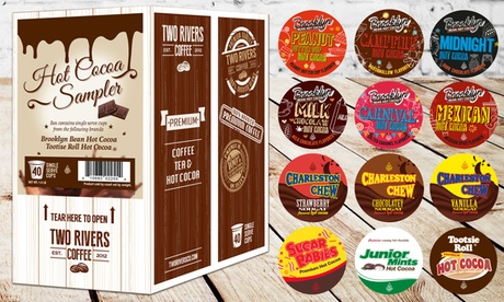 Hot Cocoa Single-Serve 40ct. Sampler from Two Rivers Coffee af1329d2-48f7-11e6-977a-00259069d7cc