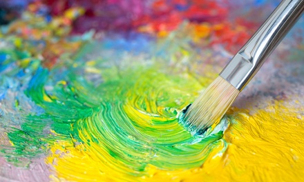 Adult BYOB Canvas-Painting Session with Supplies for One or Two at Glazed Expressions (Up to 48% Off)