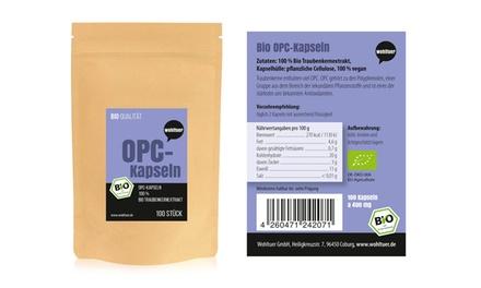1x oder 2x Wohltuer Bio OPC Traubenkernextrakt 100 Kapseln