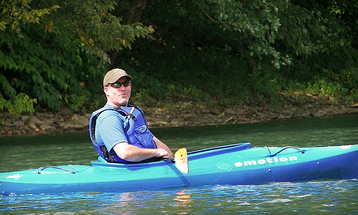 The River's Edge - Gilpin: All-Day Tube, Canoe, or Kayak Rentals for Two from The River's Edge in Leechburg (Up to 56% Off). Three Options Available.