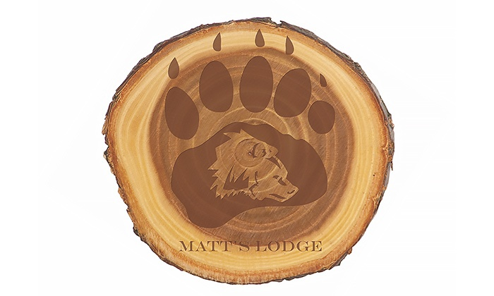 """Lazer Designs: One or Two 7"""" or 9"""" Engraved Old West Log Plaques from Lazer Designs (Up to 25% Off)"""