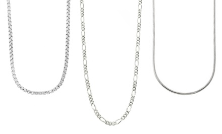 Sterling Silver Chain Necklaces from $17.99–$19.99