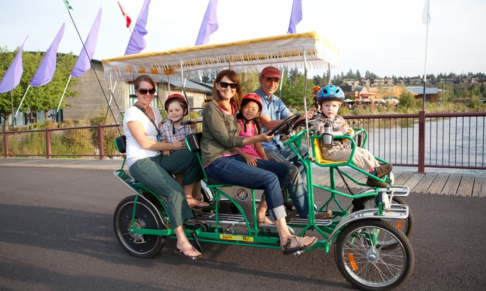 Wheel Fun Rentals - Multiple Locations: Bike, Kayak, and Surrey Rentals from Wheel Fun Rentals (Up to 54% Off). Two Options Available.