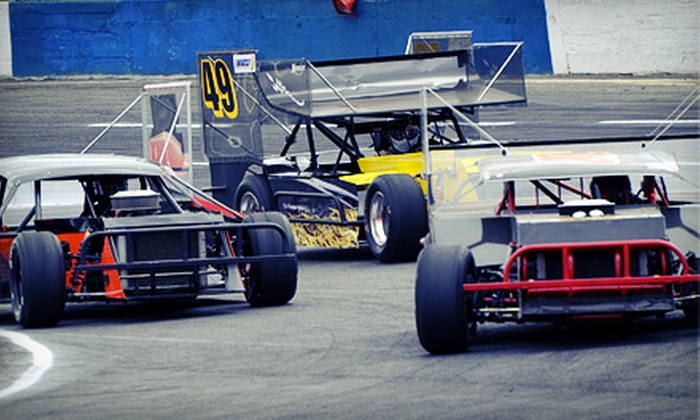 Evergreen Speedway - Monroe: Racing with Hot Dogs and Soda for Two or Four at Evergreen Speedway (Up to 55% Off). Four Options Available.