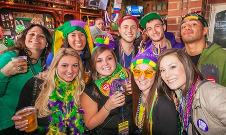 One or Six BeadQuest Mardi Gras Pub Crawl Tickets from Festa Parties (Up to 50% Off)