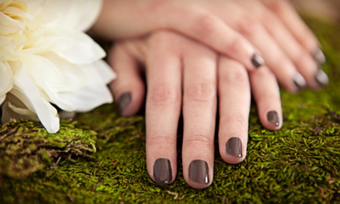 Cura Organic Nail & Hair Lounge - Orchards At Hopewell Condo: Manicures with Express Pedicures at Cura Organic Nail & Hair Lounge (Up to 58% Off). Three Options Available.