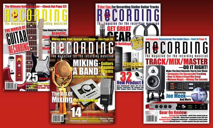 Music Maker Publications: $13 for One-Year Print and Online Subscription to _Recording_ Magazine ($23.97 Value)
