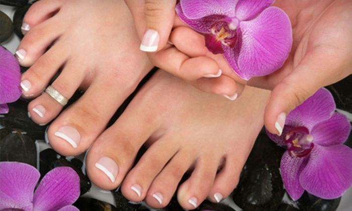 A Gentle Touch - North Raleigh: Spa Satin Mani-Pedi or Choice Between Regenerative or Hand-Foot-Facial Mani-Pedi at A Gentle Touch (Up to 55% Off)
