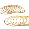 7-Piece Silver-, Yellow-Gold-, or Rose-Gold-Plated Brass Bangle Sets