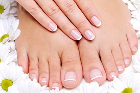 Gloss Beauty salón and spa: A Spa Manicure and Pedicure from Gloos Beauty salon (55% Off)