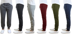 Men's Slim-Fit Fleece Jogger Sweatpants (2-Pack)