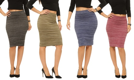 Coco Limon Women's Space Dye Pencil Skirts (2-Pack)