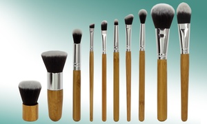 Set con 10 pennelli in bamboo