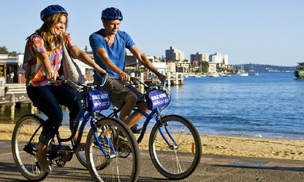 TwoHour Hybrid Bike $19 or OneHour Tandem Bike Hire $21 with Manly Bike Tours Up to $35 Value