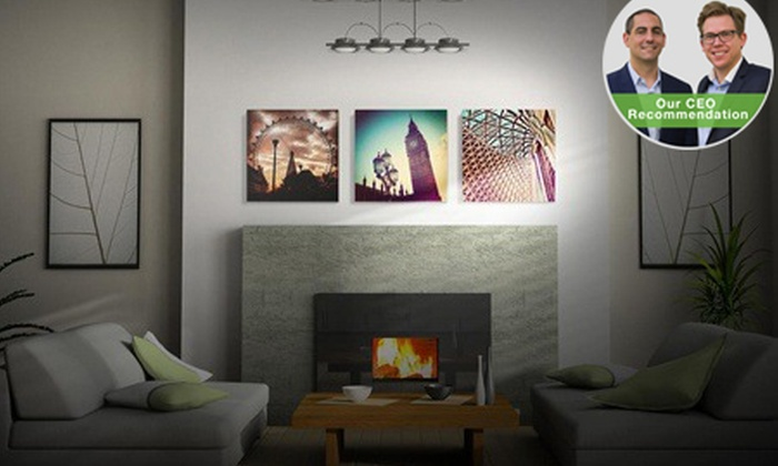 Printstagram: 300mm x 300mm Personalised Canvas Prints by Printstagram from R99 (Up to 70% Off)
