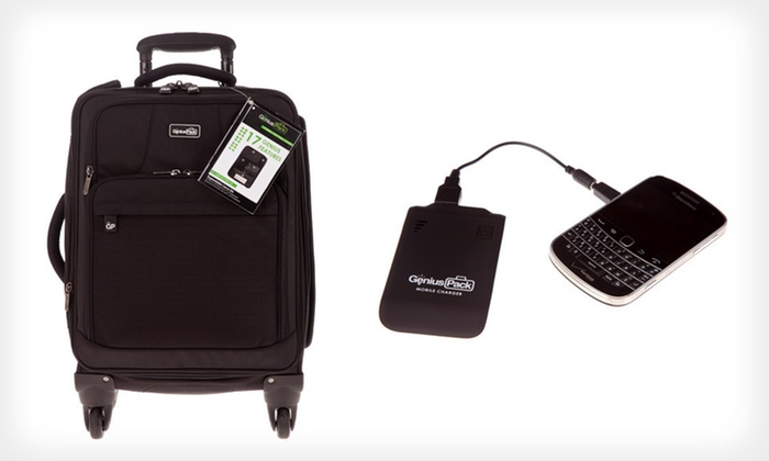 Genius Packer Carry-On with Charger: $149 for a Genius Packer 22-Inch Carry-On with Portable Charger ($336 List Price). Free Shipping and Free Returns.