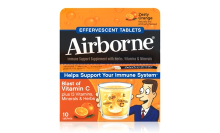 Airborne Orange Immune Support Supplement ; 6-Pack of 10ct. Boxes + 5% Back in Groupon Bucks