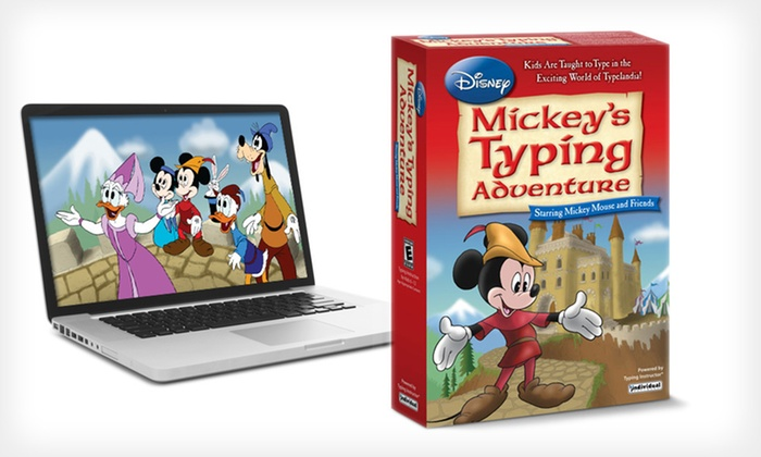 """Disney """"Mickey's Typing Adventure"""" Teaching Software for Mac and PC: $16.99 for Disney """"Mickey's Typing Adventure"""" ($39.99 List Price). Free Shipping and Free Returns."""