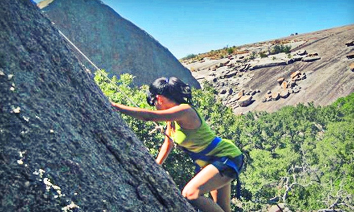 Rock About - Southwest Travis: 101: Basic Climbing Skills Outdoor Rock-Climbing Course from Rock About (51% Off). Eight Options Available.