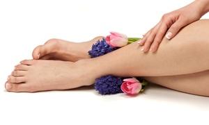 Ravishing Ladies salon: Basic, Spa or Gel Manicure and Pedicure at Ravishing Ladies Salon (Up to 59% Off)