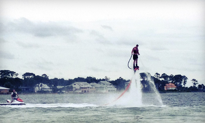 Power Up Watersports - Multiple Locations: 45- or 60-Minute Flyboarding Experience from Power Up Watersports (Up to 58% Off)