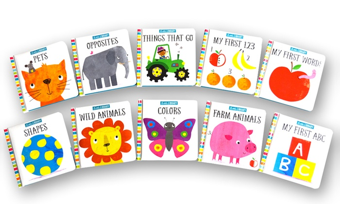 Kids' Board Book Set (10-Pack) | Groupon Goods
