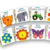 Little Library Board Book Set with Bookends (10-Pack)