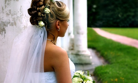 Trial Bridal Hairstyling or Trial and Day-Of Styling (Up to 57% Off). Three Options Available.
