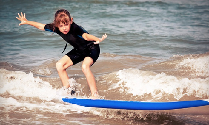 Padre Island Surf Camp - Padre Island: 90-Minute Youth Surfing Class or One Day of Youth Surf Camp from Padre Island Surf Club (Up to 57% Off)