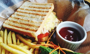 JK's Steakhouse: Choice of Sandwich, Chips, Salad and Coleslaw for Two or Four at JK's Steakhouse (55% Off)