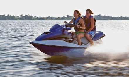 30- or 60-Minute Jet-Ski Rental with Cabana and Lounge Chairs from On the Beach Watersports (Up to 47% Off)