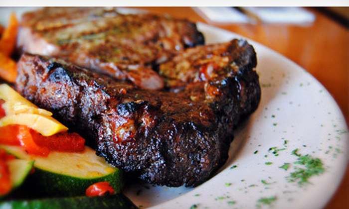 Back Street Grill - Sanford: Three-Course Steak-House Dinner with Appetizer and Dessert for Two or Four at Back Street Grill (Up to 54% Off)