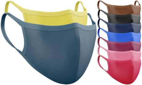 1, 3, 5 ou 10 mascarillas de doble capa reutilizables y lavables
