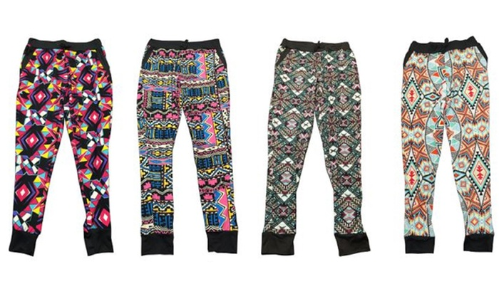 Kids' Colorful Printed Joggers (4-Pack): Kids' Colorful Printed Joggers (4-Pack)