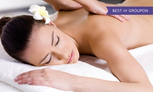 Heaven Salon & Spa: Therapeutic or Hot-Stone Massage with Optional Paraffin Hand Treatment at Heaven Salon & Spa (Up to 66% Off)
