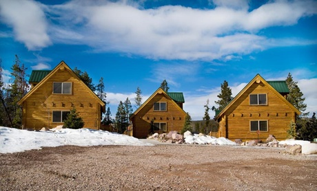 Log Cabins and Snowmobiling in Utah Wilderness