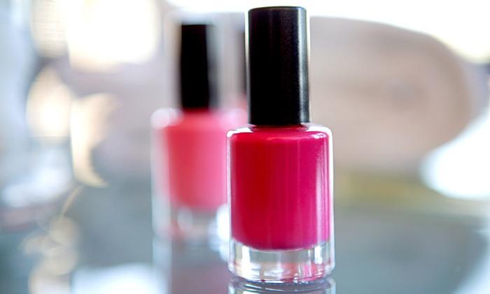 Hair Daze Salon - Somersworth: Spa Mani-Pedi or Shellac Manicure at Hair Daze Salon (Up to 52% Off)