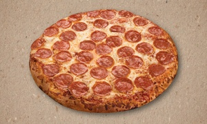 3 Guys Pizza Pies - Kent: Large 1 Topping Pizza: Choose from Hand-Tossed, Traditional, or Thin and Crispy Crust at 3 Guys Pizza Pies (45% Off)