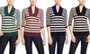Pink Rose Striped V-Neck Sweater: Pink Rose Striped V-Neck Sweater | Brought to You by ideel